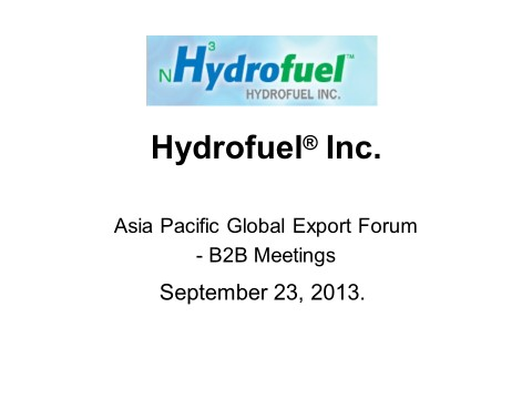 2013-09-23 Asia Pacific Global Export Forum Presentation